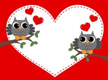 Flirting owls Stock Photo