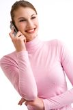 Flirting on the phone Stock Images