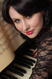 Flirting pianist Stock Photography
