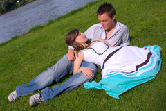 Flirting on the river Royalty Free Stock Photography