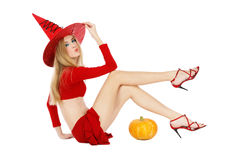 Flirting witch Stock Images
