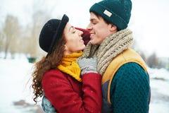 Flirtować outdoors zdjęcia stock