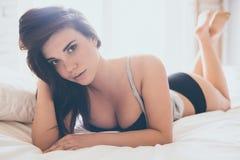 Flirty beauty. Royalty Free Stock Photo