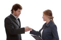 Flirty biznesowy wprowadzenie Zdjęcia Stock