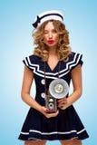 Flirty Blinzeln Lizenzfreie Stockfotografie