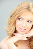Flirty blonde woman Royalty Free Stock Photo