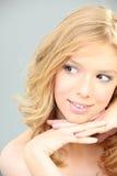 Flirty blonde woman Royalty Free Stock Photo