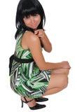 Flirty brunette Stock Photography