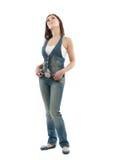 Flirty brunette girl dream Royalty Free Stock Images