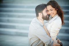 Flirty couple Stock Photography