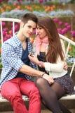 Flirty couple Stock Image