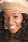 Flirty girl. Portrait of Flirty African-American in the park Royalty Free Stock Images