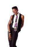 Flirty Girl with Neck Tie Stock Image
