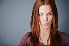 Flirty girl Stock Photo