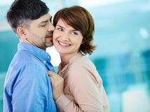 Flirty kiss Stock Photography