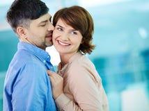 Flirty kiss Stock Photography
