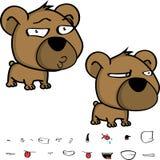 Flirty kleine Großkopfbaby-Teddybärausdrücke eingestellt Lizenzfreie Stockfotografie