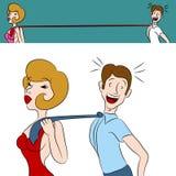 Flirty kvinna stock illustrationer