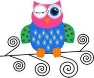 A flirty owl stock photography