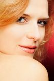 Flirty portrait of redhead woman Stock Photos