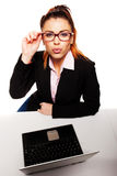 Flirty and provocative business woman Royalty Free Stock Photos