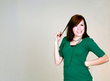Flirty Redhead Royalty Free Stock Photography