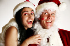 Flirty Santa Stock Photos