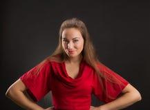 Flirty speels meisje Royalty-vrije Stock Foto's