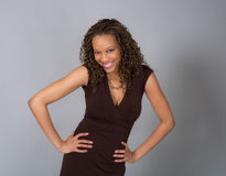 Flirty Young Woman Smiling royalty free stock photography