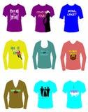 Flirtyt-shirts Stock Afbeelding