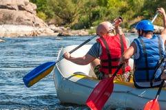 Flisactwo i kayaking Popularny miejsce dla, szkolenie dla atlet as well as Obrazy Stock