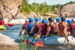 Flisactwo i kayaking Popularny miejsce dla, szkolenie dla atlet as well as Obraz Stock