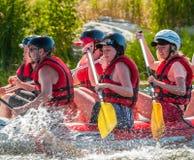 Flisactwo i kayaking Popularny miejsce dla, szkolenie dla atlet as well as Zdjęcia Stock
