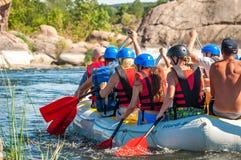 Flisactwo i kayaking Popularny miejsce dla, szkolenie dla atlet as well as Obraz Royalty Free