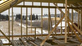 Flisacy drewniany posiadają lokalowy w budowie w przedmieściach obraz royalty free
