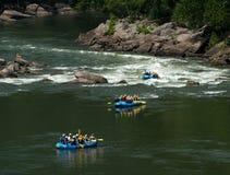 Flisacy przy Nowej rzeki wąwozu mostem w Zachodnia Virginia fotografia stock