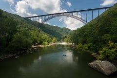 Flisacy przy Nowej rzeki wąwozu mostem w Zachodnia Virginia zdjęcia stock