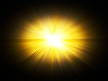Flits, de zon. stock illustratie