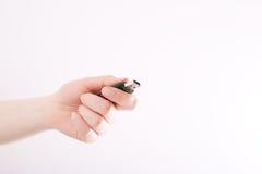 Flits USB in vrouwelijke hand royalty-vrije stock fotografie