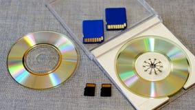 Flitsaandrijving en geheugen onder CD Stock Fotografie