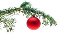 Flitter auf Weihnachtsbaum Stockfotografie