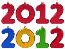 Flitter des neuen Jahres 2012 in der Form von Zahlen Stockbilder