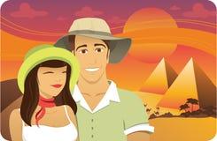 Flitterwochen in Ägypten lizenzfreie abbildung