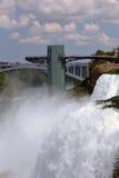 Flitterwochen-Brücke von den amerikanischen Fällen Lizenzfreies Stockfoto