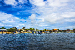 Flitterwochen-Bucht-Küste Stockfoto