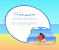 Flitterwochen-Netz-Plakat mit den Paaren, die Seaview schauen lizenzfreie abbildung