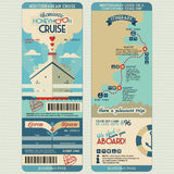 Flitterwochenkreuzfahrtbordkarte Stockbild