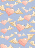 Flitting hearts Stock Images