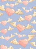 flitting hjärtor royaltyfri illustrationer