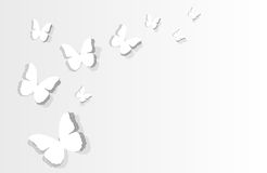 Flitting paper butterflies Royalty Free Stock Images